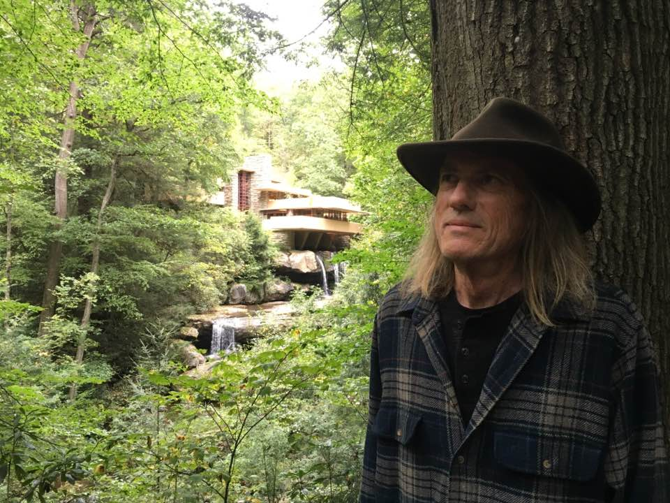 Tony at Fallingwater, Frank Lloyd Wright, Anthony M Richards, Lone Tree Residential Design